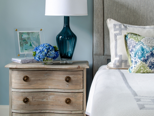 Stratford Road Residence 2 bedroom nightstand Pebbles Nix Interiors